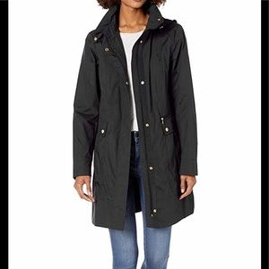 Cole Haan Lightweight Ladies Raincoat Black Large